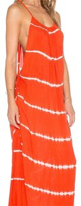 Orange and white Maxi Dress by Indah
