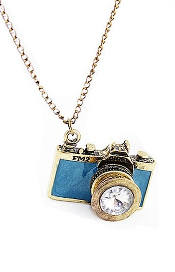 Private Collection new blue camera necklace!