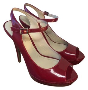 Marco Santi Patent Leather Red Platforms