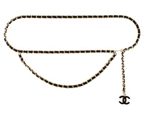 Chanel Gold-tone Chanel chain-link interlocking CC logo belt M