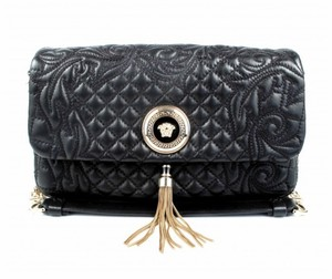 Versace Quilted Leather Medusa Vanitas Shoulder Bag