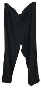 Larry Levine Straight Pants Black with pinstripes