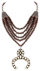 Aris Tribal Squash Blossom Necklace & Earrings Set-Bronze