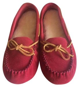 Old Friend Ruby Red Suede Flats