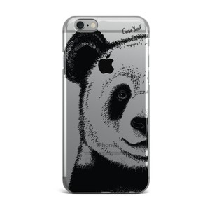 Case Yard NEW Clear Plastic IPhone Case with Panda Design, Size 6/6s