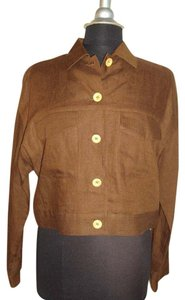 Liz Claiborne Size Medium Brown Size 8 linen Jacket