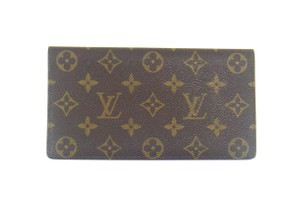 Louis Vuitton Rare Vintage Monogram Canvas Leather Oversized Long Wallet w/ Box