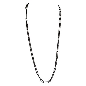 Alexis Bittar Alexis Bittar Black Etched Long Chain Necklace