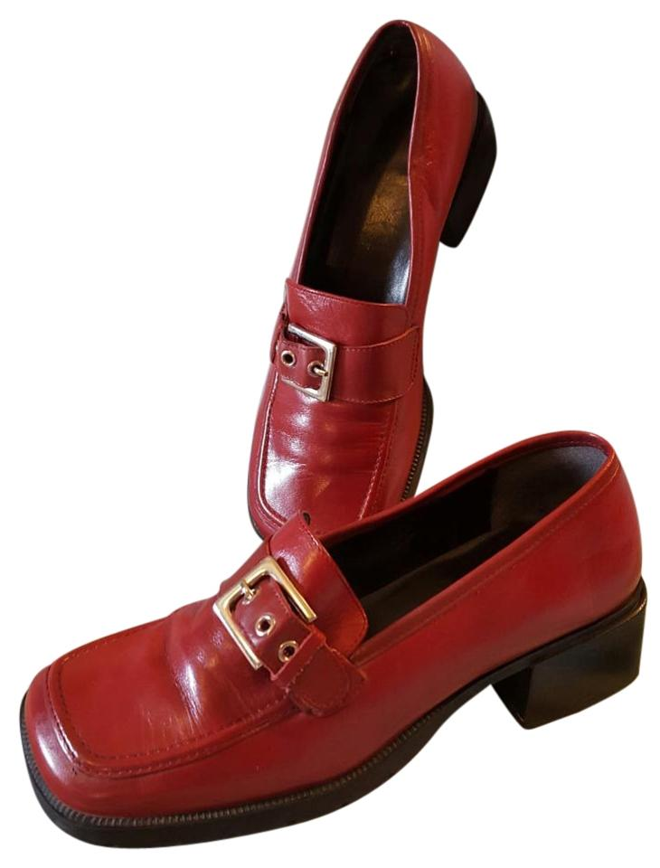 Nine Leather West Red Praise Loafers/Clogs Leather Nine Uppers Mules/Slides 693a21