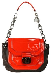 Lanvin Leather Orange Chain Strap With Tags Shoulder Bag
