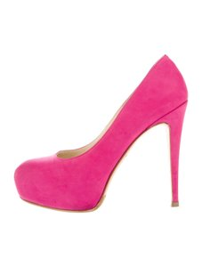 Brian Atwood Suede 8 Pink Pumps