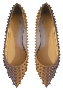 Christian Louboutin Spiked pink Flats