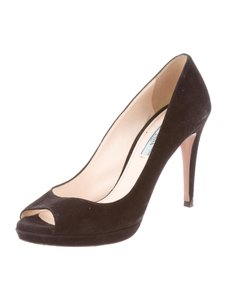 Prada Suede 7 Black Pumps