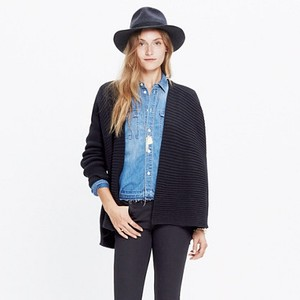 Madewell Structured Draped Cardigan