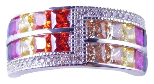 Preload https://img-static.tradesy.com/item/2027075/white-rainbow-sapphire-double-staggered-row-3-x-3mm-princess-cut-channel-set-wcz-accents-sterling-si-0-0-540-540.jpg