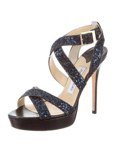 Jimmy Choo Vamp Glitter Blue Formal