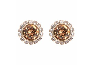 Ted Baker NEW Sully Crystal Daisy Stud Earrings Gold w/box & jewelry bag TBJ854