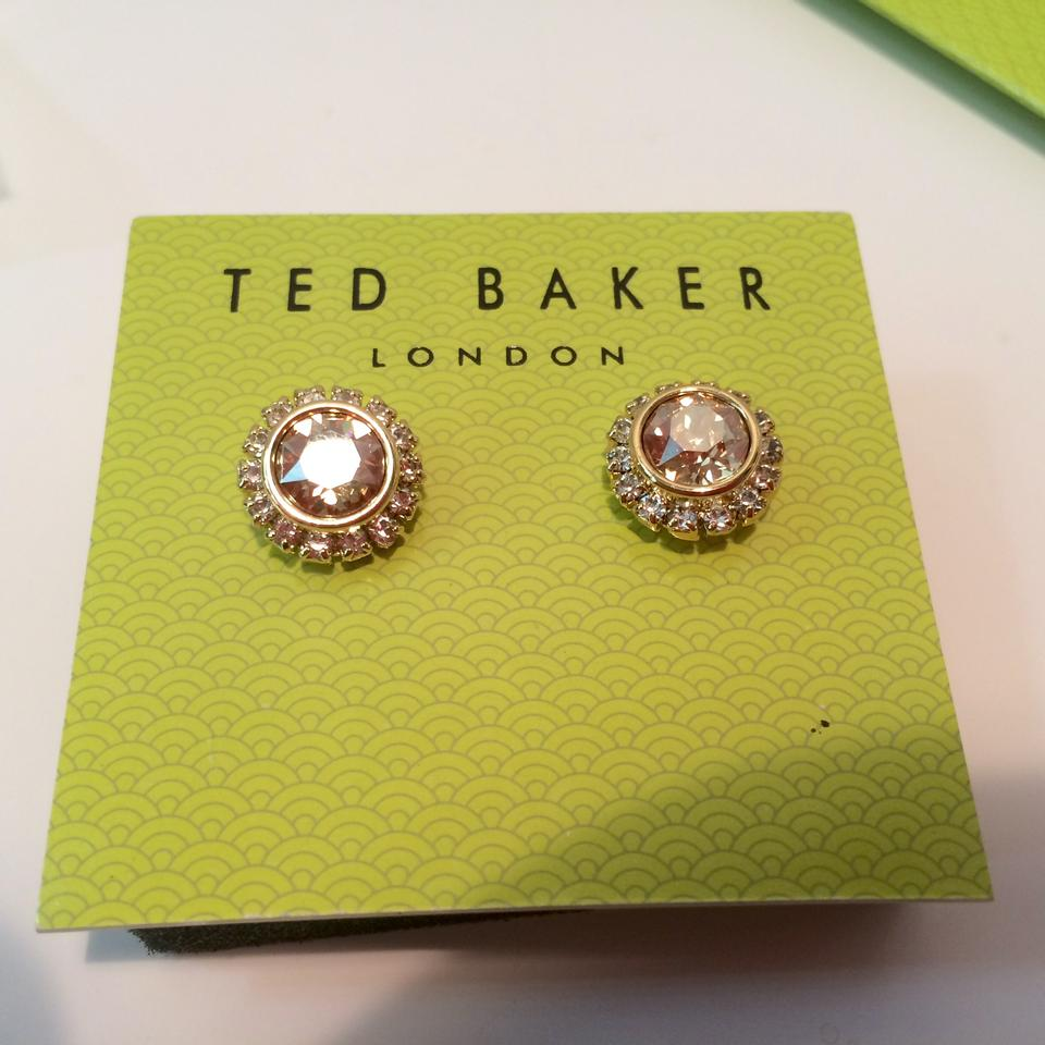 f29c8ed80d73 Ted Baker NEW Sully Crystal Daisy Stud Earrings Gold w box   jewelry bag  TBJ854. 1234