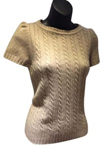 Moschino Cable Knit Cashmere Wool Top BEIGE