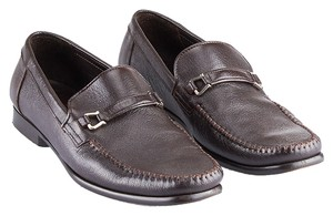Bruno Magli Leather Loafers Brown Flats