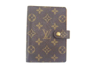 Louis Vuitton Agenda PM Monogram Canvas Leather Notebook Planner Cover w/ Box