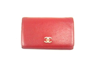 Chanel 6 Key Holder Case Wallet Calf Leather France