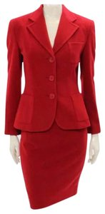 Ralph Lauren Collection Ralph Lauren Collection Holiday Red Jacket & Pencil Skirt Suit