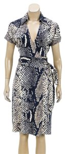 Diane von Furstenberg short dress Navy Blue/Multicolor on Tradesy