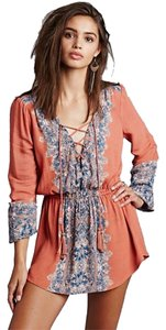 Free People Printed Slubbed Tunic