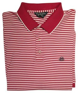 Brooks Brothers Polo Mens Men Mens Golf Polo Shirt Button Down Shirt Red