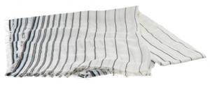 Gucci Gucci White Multicolor Striped GG Scarf