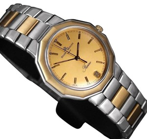 Baume & Mercier Baume & Mercier Mens Riviera Two-Tone Watch - SS and Solid 18K Gold