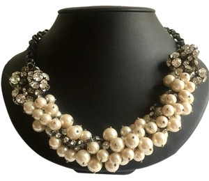 J.Crew J Crew Bold Pearl & Crystal Statement Necklace