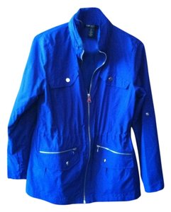 Style & CO Petite Sport Blue Royal Blue Jacket