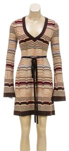 M Missoni short dress Brown Multicolor on Tradesy