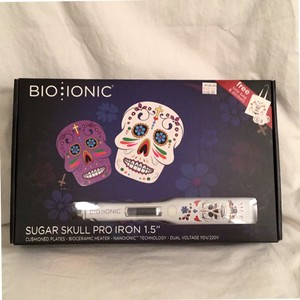 Bio Ionic NEW! $240 Professional 1 1/2'' Bioceramic Flat Iron Sugar Skull Design