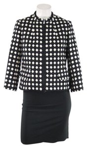 Jones New York Polka Dot Wool Petite Black Jacket