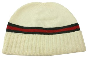 Gucci GUCCI 294731 Men's Wool with Web Beanie Hat L