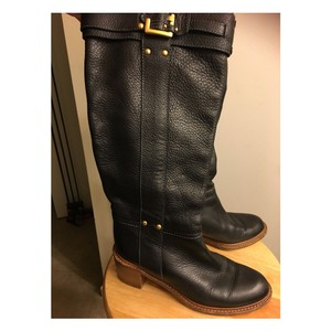 Chloé Leather Equestrian Fall Black Boots