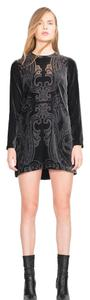 Zara short dress Velvet Mini Above Knee Black on Tradesy