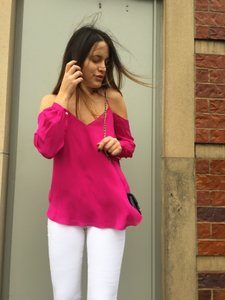 Haute Hippie Cold Top pink