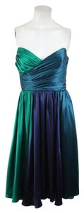 Betsey Johnson Vintage Strapless Satin Silk Dress