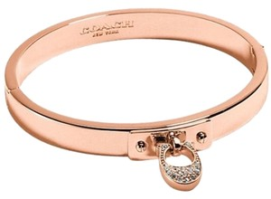 Coach coach rose gold charm C bangle