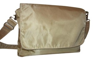 Francesco Biasia Canvas Cotton Leather Shoulder Bag