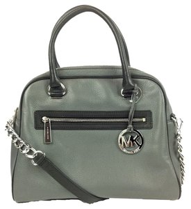 Michael Kors Satchel in Slate / Black