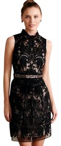 Yoana Baraschi short dress Black Lace Anthropologie Baraschi Cocktail Lace on Tradesy