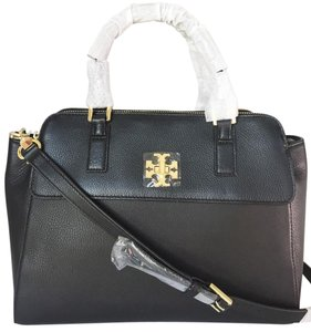 Tory Burch Satchel in Black, Gold