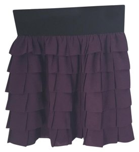 Anthropologie Mini Skirt Purple