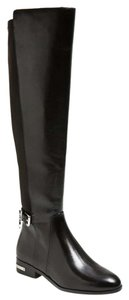 Michael Kors Slim Calves Over The Knee Black Boots