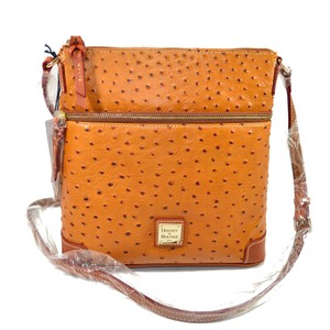 Dooney & Bourke & Ostrich Embossed Leather Cross Body Bag